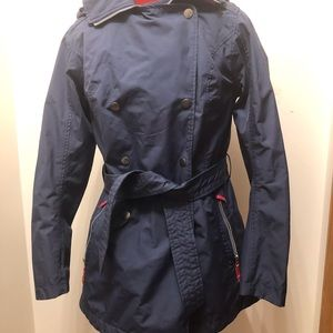 Helly Hansen Wesley Trench - Navy with pink lining